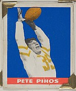 Pete Pihos, from the All-Star Football series (R401-2), issued by Leaf Gum Company