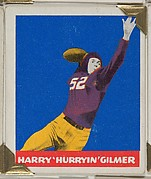 "Harry ""Hurryin"" Gilmer, from the All-Star Football series (R401-2), issued by Leaf Gum Company"