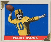 Perry Moss, from the All-Star Football series (R401-2), issued by Leaf Gum Company