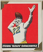 "Frank ""Boley"" Dancewitz, from the All-Star Football series (R401-2), issued by Leaf Gum Company"