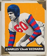 "Charles ""Chuck"" Bednarik, from the All-Star Football series (R401-2), issued by Leaf Gum Company"