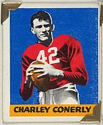 Charley Conerly, from the All-Star Football series (R401-2), issued by Leaf Gum Company