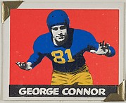 George Connor, from the All-Star Football series (R401-2), issued by Leaf Gum Company