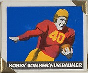 """Bobby """"Bomber"""" Nussbaumer, from the All-Star Football series (R401-2), issued by Leaf Gum Company"""