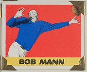 Bob Mann, from the All-Star Football series (R401-2), issued by Leaf Gum Company