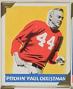 """Pitchin"" Paul Christman, from the All-Star Football series (R401-2), issued by Leaf Gum Company"