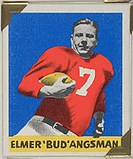 "Elmer ""Bud"" Angsman, from the All-Star Football series (R401-2), issued by Leaf Gum Company"