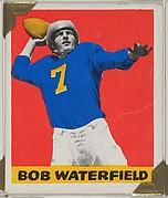 Bob Waterfield, from the All-Star Football series (R401-2), issued by Leaf Gum Company