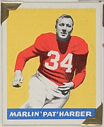 "Marlin ""Pat"" Harber, from the All-Star Football series (R401-2), issued by Leaf Gum Company"