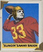 """Slingin"" Sammy Baugh, from the All-Star Football series (R401-2), issued by Leaf Gum Company"