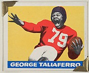 George Taliaferro, from the All-Star Football series (R401-2), issued by Leaf Gum Company