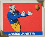 James Martin, from the All-Star Football series (R401-2), issued by Leaf Gum Company