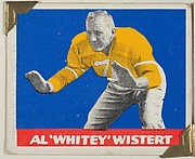 "Al ""Whitey"" Wistert, from the All-Star Football series (R401-2), issued by Leaf Gum Company"