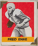 Fred Enke, from the All-Star Football series (R401-2), issued by Leaf Gum Company