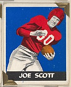 Joe Scott, from the All-Star Football series (R401-2), issued by Leaf Gum Company
