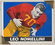 Leo Nomellini, from the All-Star Football series (R401-2), issued by Leaf Gum Company