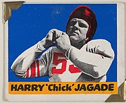 """Harry """"Chick"""" Jagade, from the All-Star Football series (R401-2), issued by Leaf Gum Company"""
