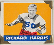 Richard Harris, from the All-Star Football series (R401-2), issued by Leaf Gum Company