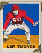 Len Younce, from the All-Star Football series (R401-2), issued by Leaf Gum Company
