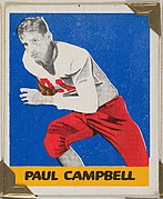 Paul Campbell, from the All-Star Football series (R401-2), issued by Leaf Gum Company
