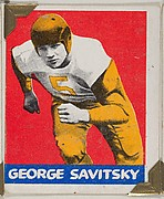 George Savitsky, from the All-Star Football series (R401-2), issued by Leaf Gum Company