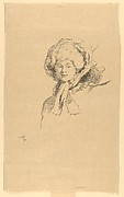 Portrait, Head of a Woman (from L'Estampe originale, Album VII)