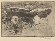 Le Bain (The Swim, also called Bathing at Talloires, from L'Estampe originale, Album VIII)
