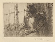 Liseuse (Woman Reading, also called Woman Reading Before a Window, from L'Estampe originale, Album IX)