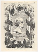 """Mourning Portrait of Daniel Webster (from Gleason's """"Pictorial Drawing-Room Companion"""")"""