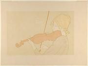 Girl with a Violin (from L'Estampe originale, Album VII)