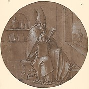 Saint Ambrose Seated in an Interior