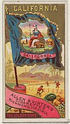 California, from Flags of the States and Territories (N11) for Allen & Ginter Cigarettes Brands