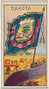Dakota, from Flags of the States and Territories (N11) for Allen & Ginter Cigarettes Brands