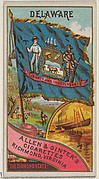 Delaware, from Flags of the States and Territories (N11) for Allen & Ginter Cigarettes Brands