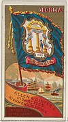 Georgia, from Flags of the States and Territories (N11) for Allen & Ginter Cigarettes Brands