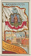 Massachusetts, from Flags of the States and Territories (N11) for Allen & Ginter Cigarettes Brands