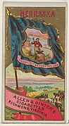 Nebraska, from Flags of the States and Territories (N11) for Allen & Ginter Cigarettes Brands