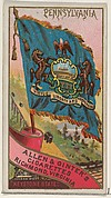 Pennsylvania, from Flags of the States and Territories (N11) for Allen & Ginter Cigarettes Brands