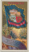 Wyoming, from Flags of the States and Territories (N11) for Allen & Ginter Cigarettes Brands