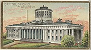 Capitol of Ohio in Columbus, from the General Government and State Capitol Buildings series (N14) for Allen & Ginter Cigarettes Brands