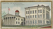 Capitol of Kentucky in Frankfort, from the General Government and State Capitol Buildings series (N14) for Allen & Ginter Cigarettes Brands