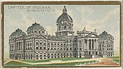Capitol of Indiana in Indianapolis, from the General Government and State Capitol Buildings series (N14) for Allen & Ginter Cigarettes Brands