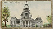 Capitol of Illinois in Springfield, from the General Government and State Capitol Buildings series (N14) for Allen & Ginter Cigarettes Brands