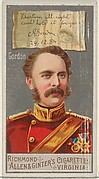 Charles George Gordon, from the Great Generals series (N15) for Allen & Ginter Cigarettes Brands
