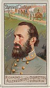 """""""Stonewall"""" Jackson, from the Great Generals series (N15) for Allen & Ginter Cigarettes Brands"""