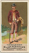 Holland, from the Natives in Costume series (N16) for Allen & Ginter Cigarettes Brands