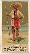 Java, from the Natives in Costume series (N16) for Allen & Ginter Cigarettes Brands