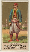 Turkey, from the Natives in Costume series (N16) for Allen & Ginter Cigarettes Brands