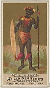 Zululand, from the Natives in Costume series (N16) for Allen & Ginter Cigarettes Brands