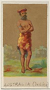 Australia (Indian), from the Natives in Costume series (N16), Teofani Issue, for Allen & Ginter Cigarettes Brands